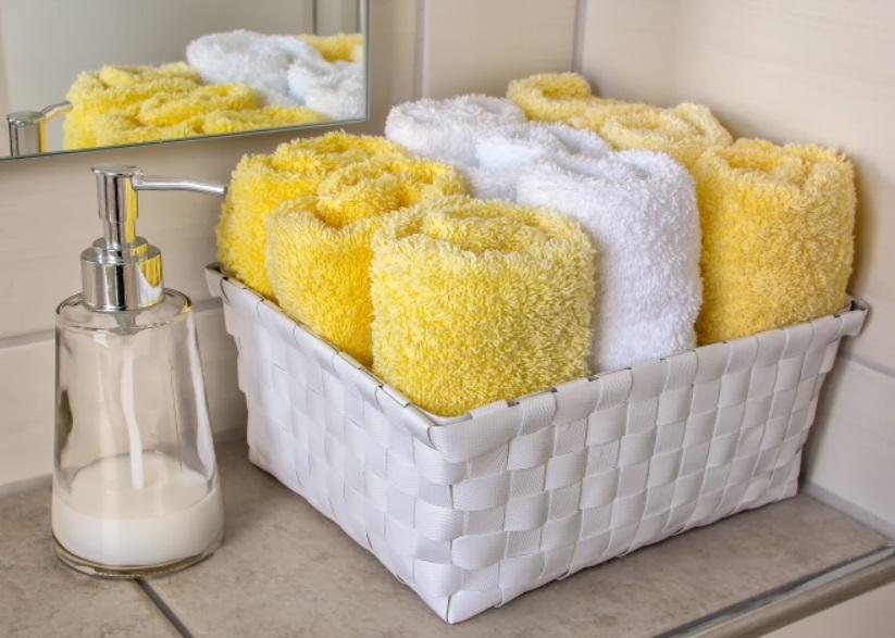 洗面台のタオルケース
